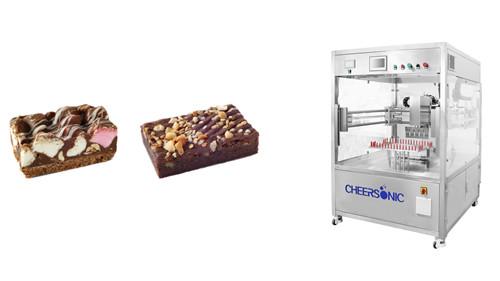布朗尼切块 - 蛋糕切片 - 超声波切割 - 杭州驰飞超声波