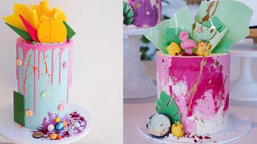 油画蛋糕 - 冰淇淋坚果蛋糕切片机 - 杭州驰飞超声波