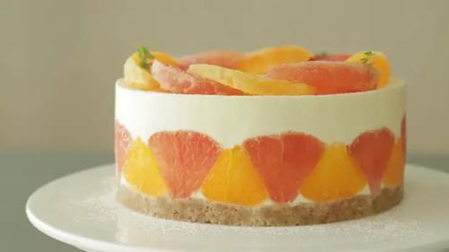 葡萄柚甜橙蛋糕 - 冰淇淋坚果蛋糕切片机 - 杭州驰飞超声波