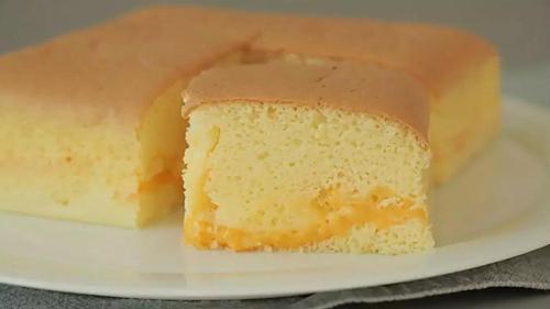 切达芝士戚风 - 切蛋糕切割机器 - 国外糕点切片机 - 杭州驰飞