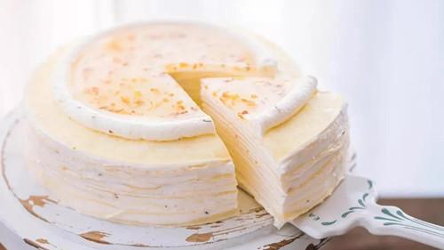 桂花千层蛋糕 - 蛋糕切刀定制 - 超音刀机器 - 驰飞超声波